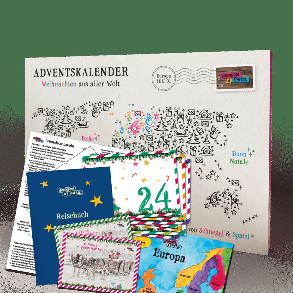Schneggi & Spatzl Adventskalender Erlebnis-Set